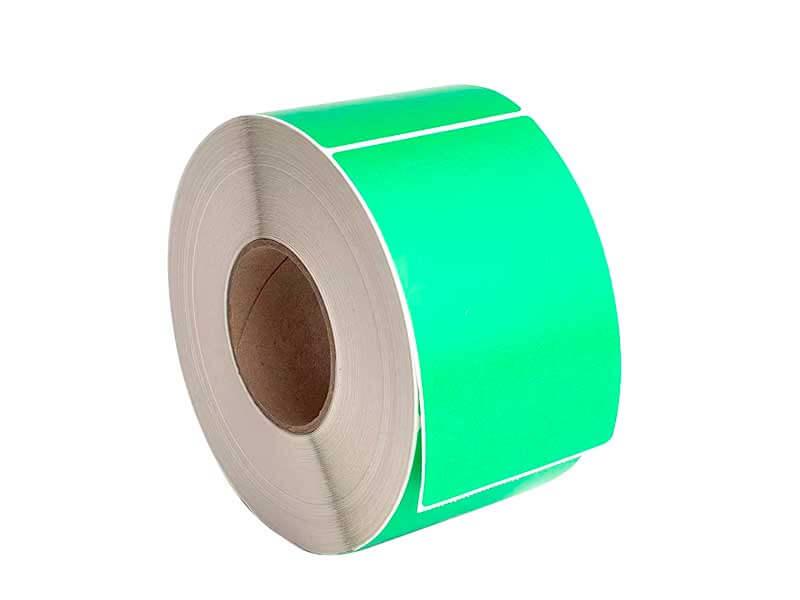 Термотрансферные этикетки зеленые