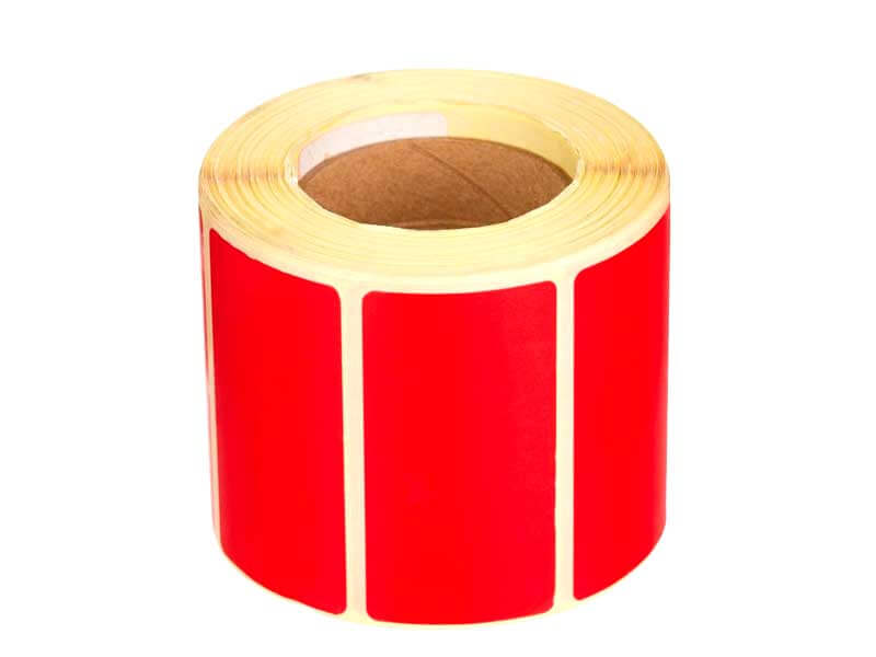 Термотрансферные цветные этикетки - красные