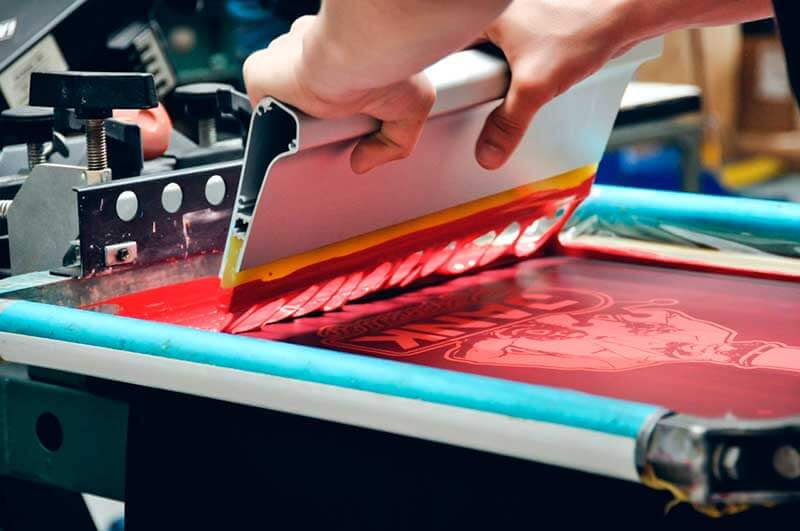 Трафаретная печать - фото процесса