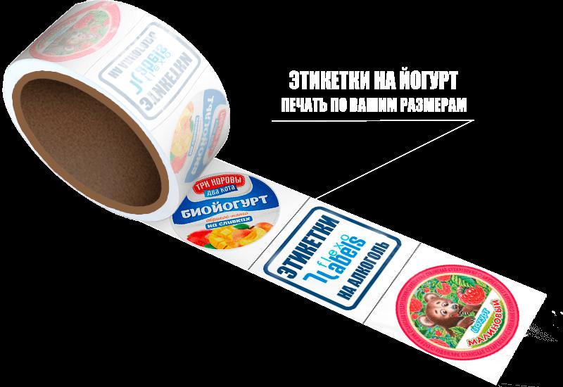 Этикетки на йогурт
